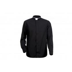 Czarna koszula kapłańska z...